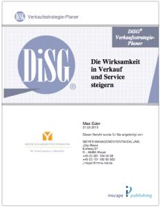 DiSG Verkaufsstrategie Planer